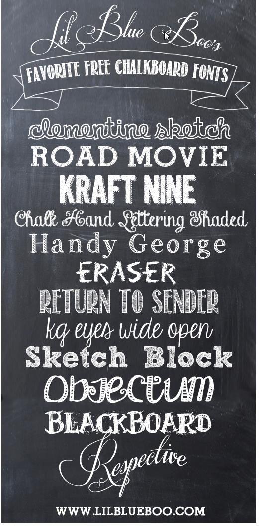 the best chalk fonts