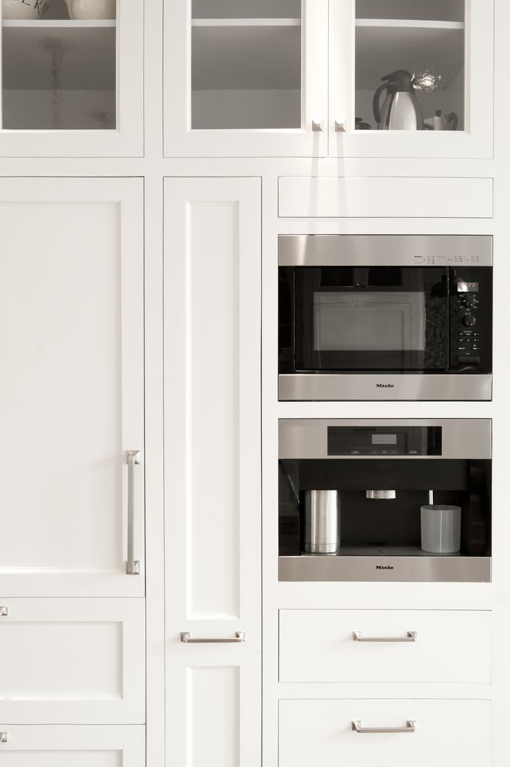 Best White Kitchen Cabinets Detail Of Built In Coffee Maker By 400 x 300