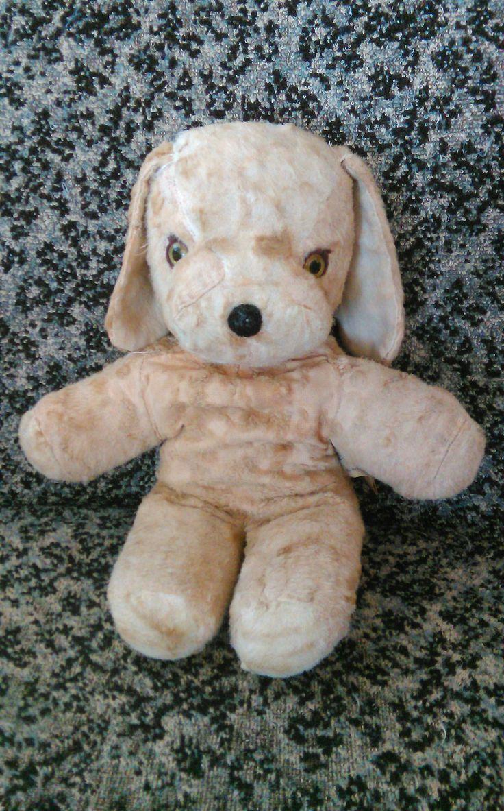 Knickerbocker Beagle-pehmolelu, 50 vuotta vanha Old toys, teddybear