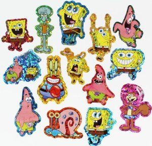 Nickelodeon Spongebob Squarepants Hologram Stickers Set of 14 Sticker Collection by Nickelodeon Spongebob Squarepants. $6.99. Sticker set of 14. For ages 3 and up. Officially licensed Nickelodeon Spongebob Squarepants stickers. Great for cards, scrapbook pages, party favors, holidays and craft projects. Made in the USA. Time for some fun in Bikini Bottom with these Nickelodeon Spongebob Squarepants hologram stickers set. The Spongebob Squarepants hologram sticker...