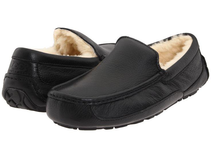 ugg australia men's ascot leather slippers footwear