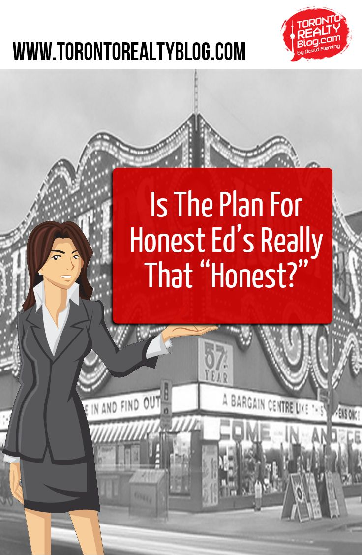 """Is The Plan For Honest Ed's Really That """"Honest?"""" Westbank revealed their vision for the redevelopment of the land at Bloor & Bathurst last week, and while it looks pretty good on paper, I wonder how much of that proposal will change as time goes on, and residents of the area let their guards down.  http://buff.ly/1wTFDbE"""