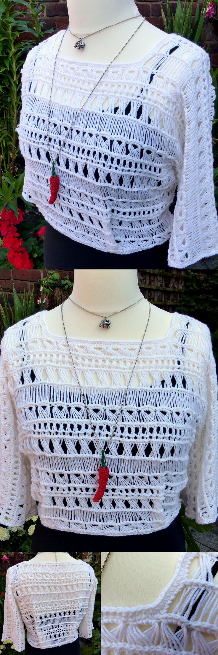 Indian Summer Lace Top – free crochet pattern from Make My Day Creative - so fast and easy!