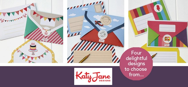 KatyJane Designs New Letter writing pads