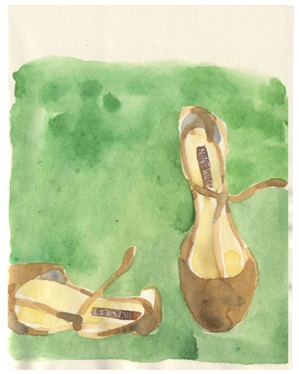 Shoes, watercolour http://nathaliedion.ca/