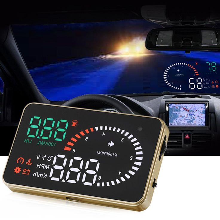 X6 Car HUD Head Up Display with Engine Speed Alarm Car Styling Speed Warning System 12V OBD II OBD2 Interface Easy Instal