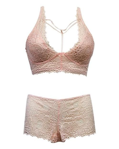 9c98a1a68f SEXY NET BRA PANTY SET 318 PEACH - SOFT PADDED NON WIRED - LUXE LINGERIE