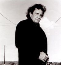 Johnny Cash poses for the camera.