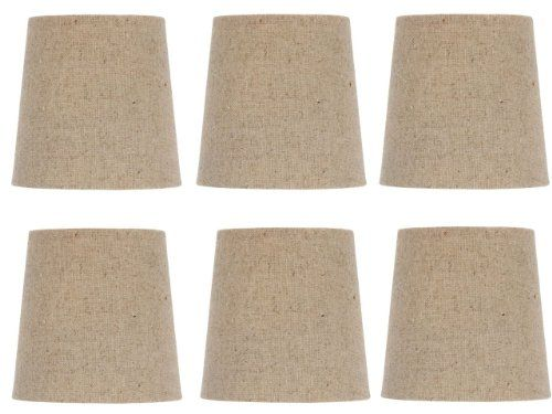 9 best lamp shades images on pinterest lampshades lamp shades and upgradelights chandelier lamp shades clip on 4 inch beige linen retro drum set of six clips mozeypictures Gallery