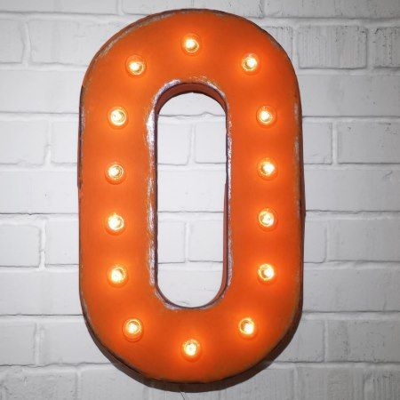 Custom 21' Orange Letter 'O' Vintage Marquee Signs - click/tap to personalize and buy