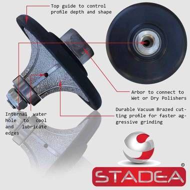 Stadea Diamond Ogee Profile Wheel Marble Stone Granite Countertop