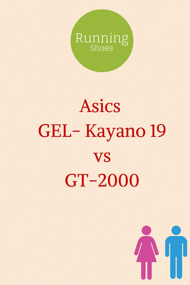 Asics GEL-Kayano 19 vs GT-2000. A comparison chart of product features between the two shoes.