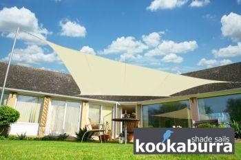 Voile d'Ombrage Ivoire Rectangle 5x4m - Imperméable - 160g/m2 - Kookaburra