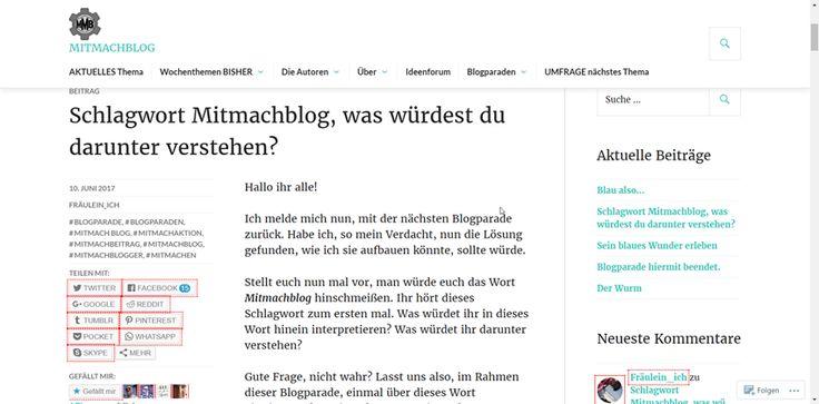 Blogparade – Schlagwort Mitmachblog – was würdest du darunter verstehen