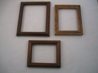 Set of Three Small Solid Oak Picture Frames by EconomicElegance on Etsy
