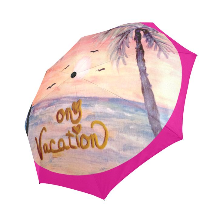 On Vacation Umbrella Auto-Foldable Umbrella