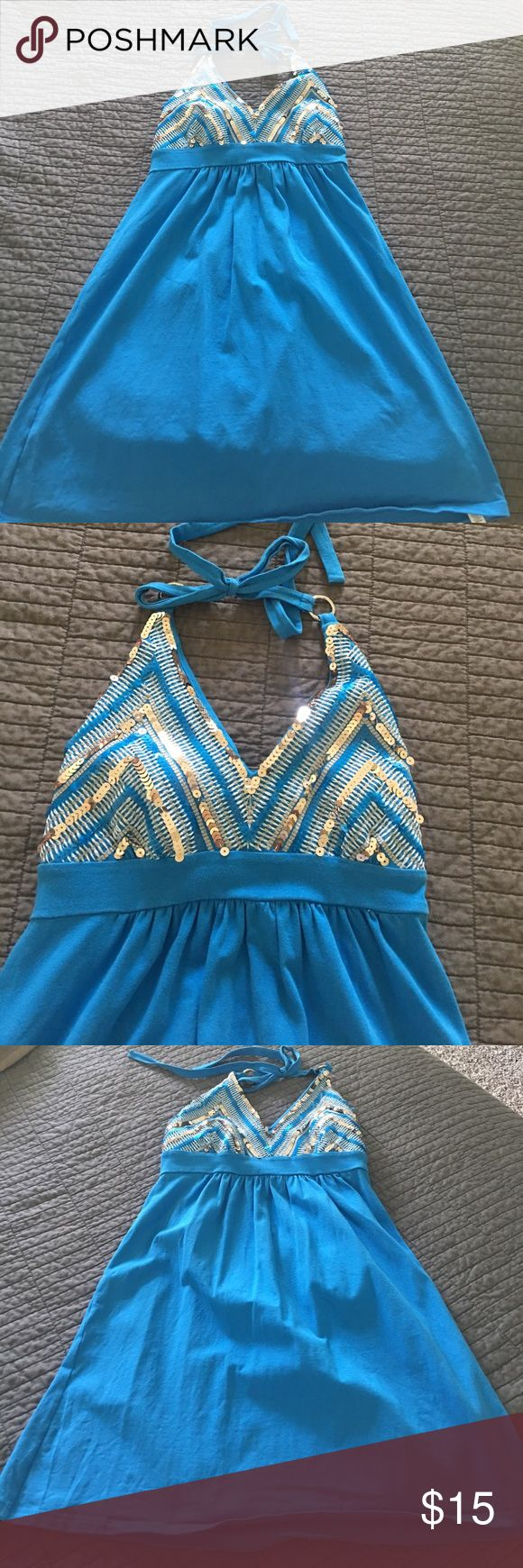 Victoria Secret Swim Suit Cover Up Size small, blue swim suit cover up. Barely worn. Victoria Secret Swim Coverups