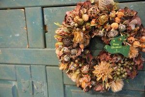 実物リース/クリスマス/wreath/http://www.hanadouraku.com/flower/christmas/flower arrangement/
