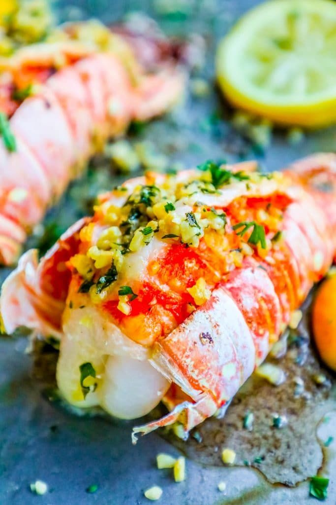 Easy and delicious10 Minute Garlic Butter Broiled Lobster Tails is the best oven baked lobster tail recipe - just bursting with garlic and lemon flavor in just one pot for an easy romantic dinner that tastes like an expensive steakhouse! This is the best lobster tail recipe ever and is incredibly delicious with almost no work, plus works in a whole 30 diet or a keto diet for a low carb romantic dinner!