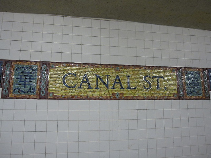 Canal Street subway tile, NYC