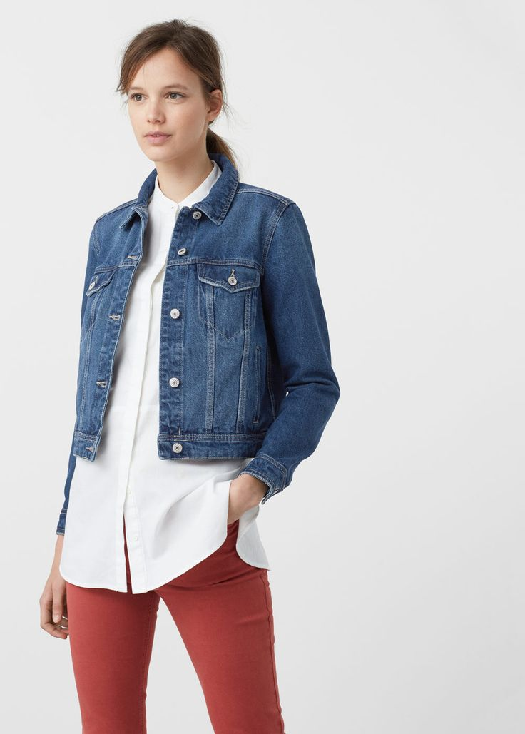 Dark denim jacket -  Women | MANGO USA