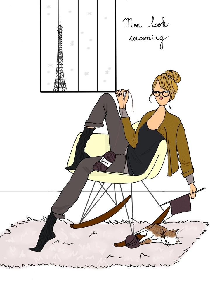 592 best images about vida a la french on pinterest - Dessin parisienne ...