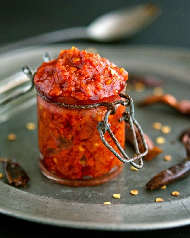 Homemade Harissa (Spicy Red Pepper Paste) Healthy vegetarian sauces, spreads, snacks