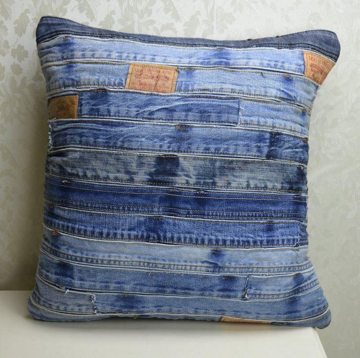 Cotton Denim European Vintage Sofa Cushion Cover PillowCase Elegant Car Pillow Cover Home Decor Paris Throw Pillows  45*45cm