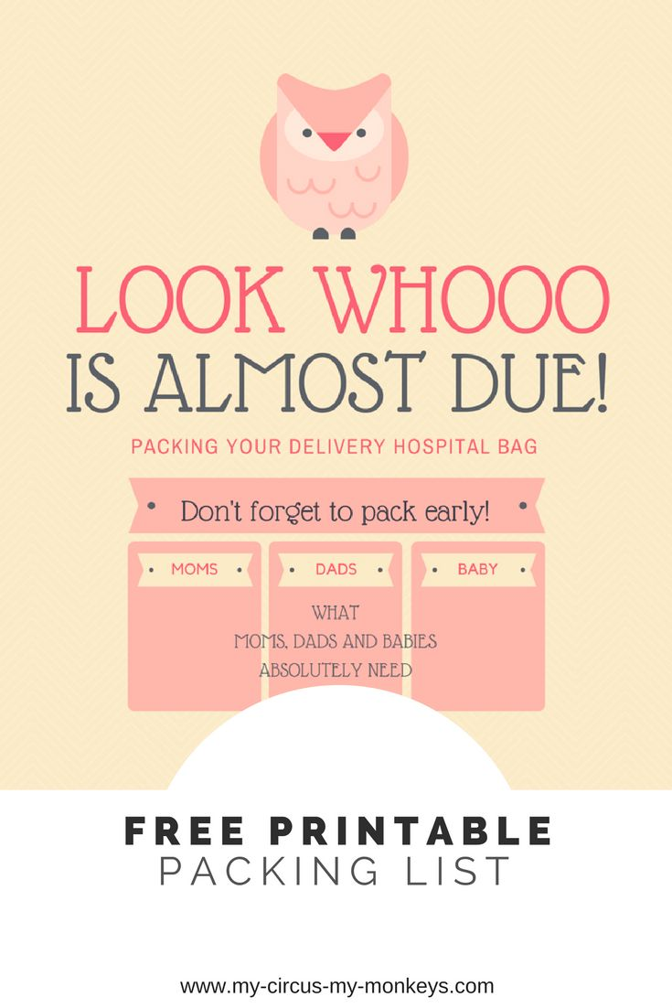 What do you pack in your delivery hospital bag? Click here for a FREE Printable Checklist!