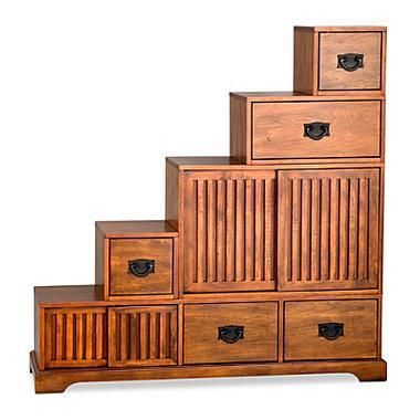 Stafford Tansu Step Chest - SkyMall for front entry way where table is?