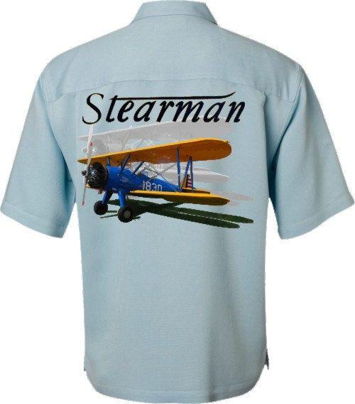 Airplane Shirt-World War II-Vintage Airplane-Stearman-Men's Aviation Shirt-Airplane gift, history gift,men's gift,for dad