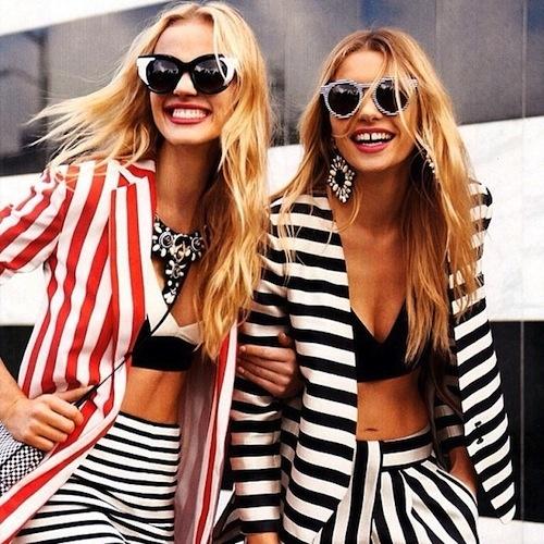 Modellen backstage bij Trend a Blapp
