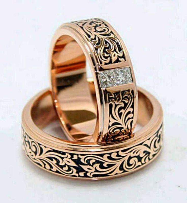 sepasang cincin kawin cantik   bahan :  1. palladium 2. platina 3. emas