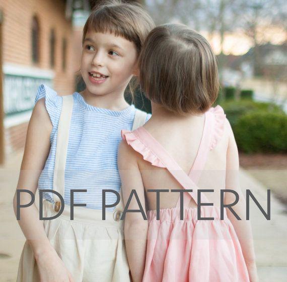 Macy Pinafore PDF suspender skirt pdf pinafore by JillyAtlanta