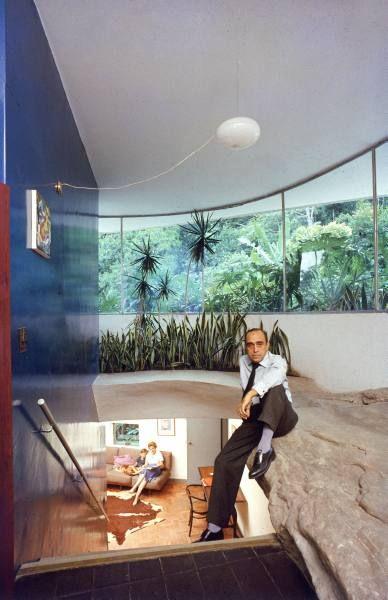 Oscar Niemeyer at his Casa das Canoas, Rio de Janeiro, Brazil