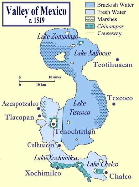 Lake Texcoco (Illustration) - Ancient History Encyclopedia