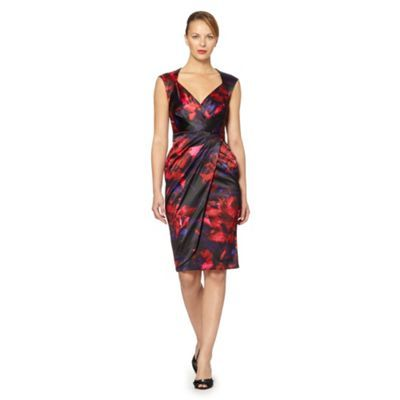 Debut Flower print satin shift dress- at Debenhams.com