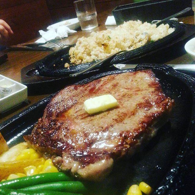 #ステーキ#ガーリックライス#うまい#肉#最高#今日から#2週間#船橋#一人暮らし#研修#夕飯どーすっか#ラーメン食べたい#船橋の美味しいラーメン#教えてほしい