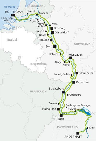 Welkom op de website van de EuroVelo15, de fietsroute langs de Rijn. — EuroVelo
