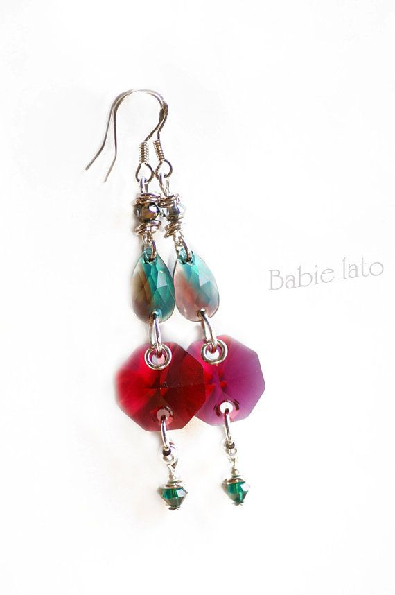 The raspberry dream //  raspberry and green by ILoveIndianSummer, £29.00