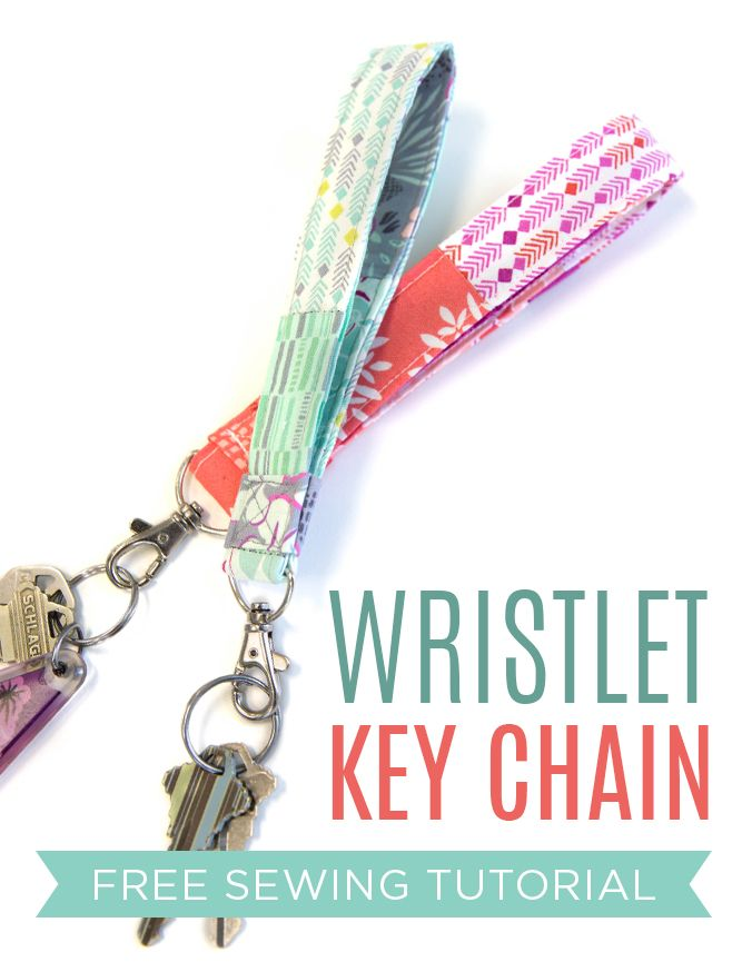 Make a cute functional wristlet key chain with this free video tutorial from Crafty Gemini