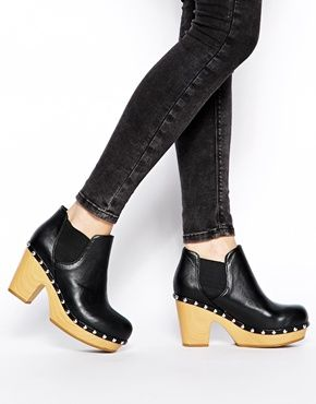 Vegan clog boots, people!! ASOS EXPOSURE Ankle Boots
