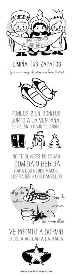 Instrucciones para para Noche de Reyes ;) #ilusion www.conideade.com