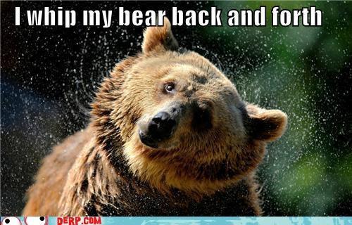 I whip my bear back and forth! #bear