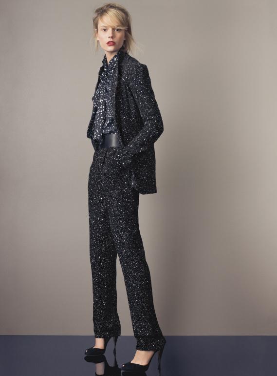 Diane Von Furstenberg 'Vintage Galaxy' Jacket, sleeveless blouse, 'Jill' leather belt, & 'Martine Galaxy' pants #Nordstrom