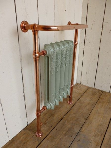 Buy bathroom towel rails with copper frames at UKAA