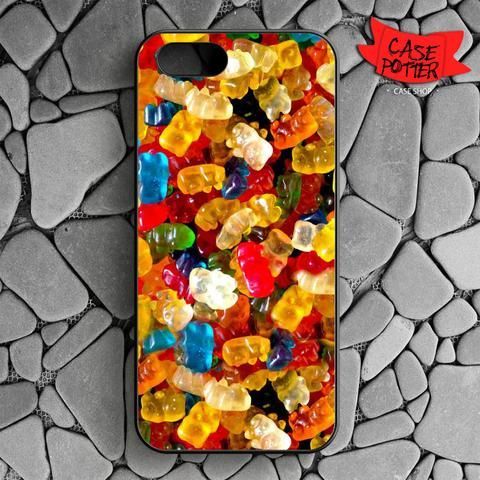 Delicious Gummy Bears Candy iPhone SE Black Case