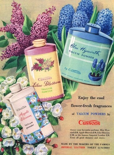 Vintage Ad for Cussons Talc.