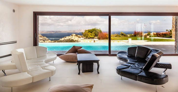 Villa Larea, located in Porto Cervo, Sardinia.  www.homeinitaly.com #LuxuryVillasInItalyForRent #luxury #villas in #Italy. Your #fabulous #Italian #vacation