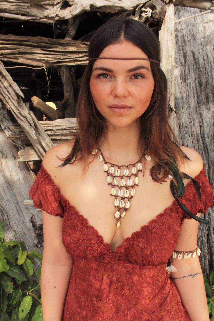 Excited to share the latest addition to my #etsy shop: Hippie boho shell necklace hand-knotted with brown cotton string - Festival Ethno Bohemian Indie Ibiza Coachella Style - bib necklace http://etsy.me/2Crk8qI